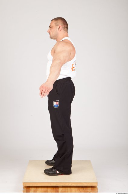 Whole Body Man White Sports Muscular Photo textures