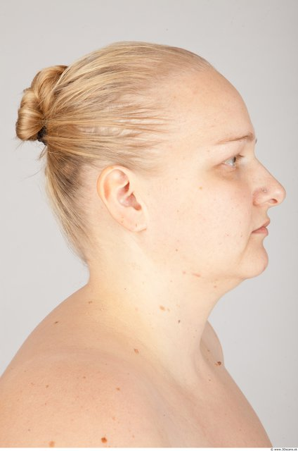 Head Woman White Overweight Photo textures
