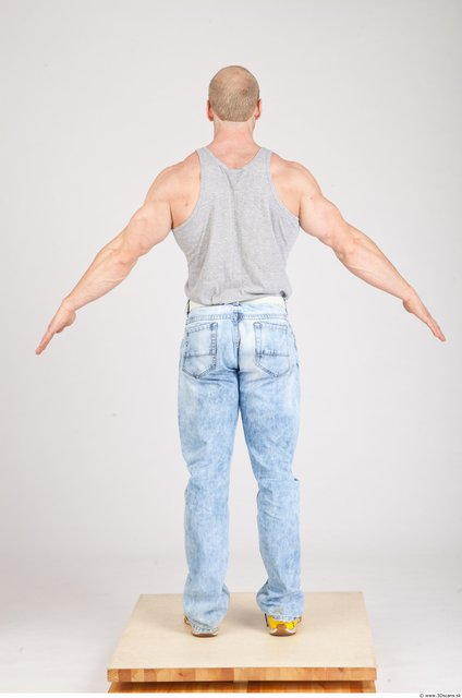 Whole Body Man White Casual Muscular Photo textures