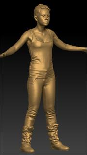 Full body 3D clothed scan of Jessie