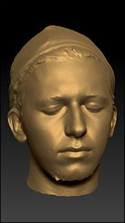 Male 3D head scan