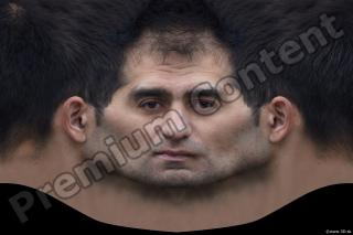 0007 Man head premade texture 0007