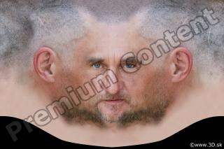0002 Man head premade texture 0002